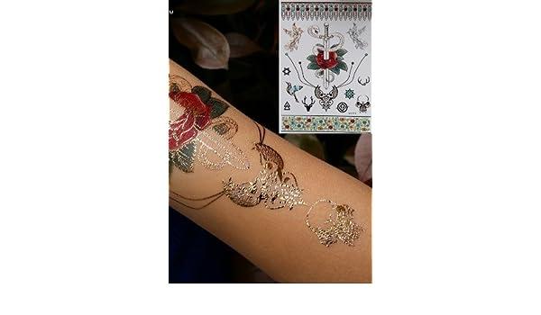 Rosa Cuchillo Tatuaje temporal tatuajes de flash Tatuajes ...