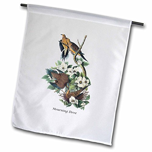 3dRose fl_114067_1 Mourning Dove by John James Audubon Garden Flag, 12 by 18-Inch