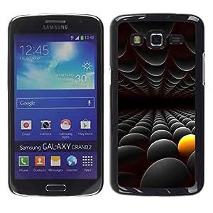 Exotic-Star ( Abstract Yellow Black ) Fundas Cover Cubre Hard Case Cover para Samsung Galaxy Grand 2 II / SM-G7102 / SM-G7105