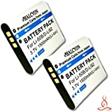 Two Halcyon 1500 mAH Lithium Ion Replacement D-LI92 Batteries for Pentax D-LI92 and Pentax Optio WG-3, WG-2, WG-1 Digital Cameras