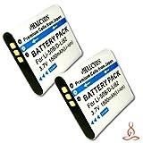 Two Halcyon 1500 mAH Lithium Ion Replacement D-LI92 Batteries for Pentax D-LI92 and Pentax Optio WG-3, WG-2, WG-1 Digital Cameras