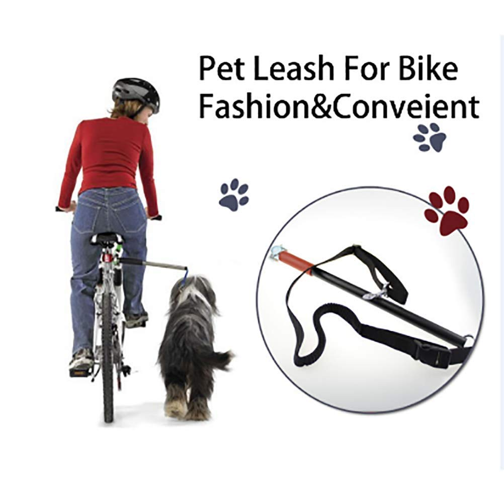 Dog Bicycle Exerciser Leash- Hands Free Dog Bicycle Bike Sport Exerciser Leash Lead Exerciser for Running Exercising Training Walking Jogging