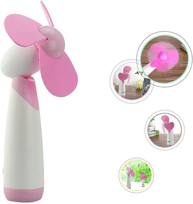 Rosa Flyproshop Mini Ventilador de Mano Ventilador de enfriamiento port/átil Personal