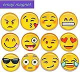 school locker fridge - Aibily Emoji Refrigerator Magnets  Fridge Magnets Emoji Magnet or Funny Magnets for Office Magnet Whiteboard, School Lockers Accessories Set-12 Pack