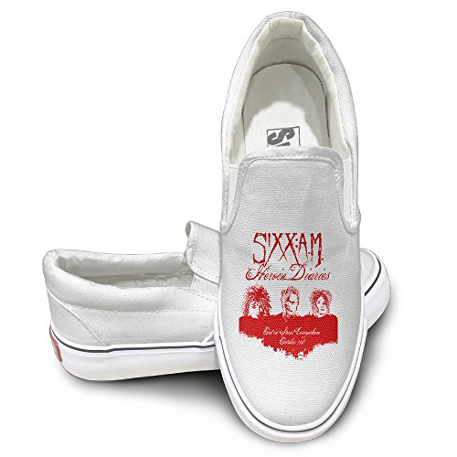HYRONE Sixx Band Rise Am Unisex Footwall Canvas Shoes Travel White Size 42