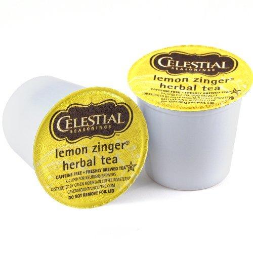 Celestial Seasonings Lemon Zinger Herbal Tea Keurig K-Cups, 72 Count by Keurig
