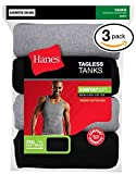Hanes White 3-Pack A-Tank (X-Large, Black And Gray)