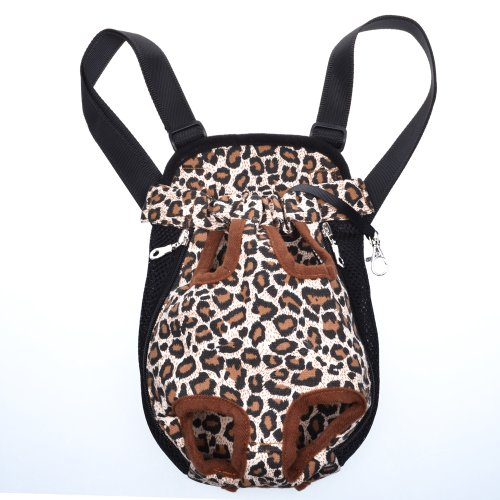 Cosmos ® Small Size Leopard Pattern Pet Legs Out front Carrier/bag + Cosmos Cable Tie