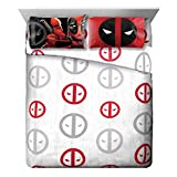 Marvel Deadpool Invasion Microfiber Queen Sheet Set