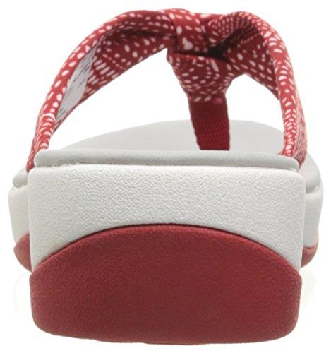 Da Fabric Arla Spiaggia Ciabatte Red Donna Glison Dots Black white Clarks white P4wnxAA