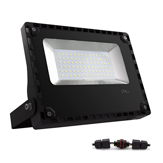 ALOTOA® 50W Foco proyector LED para exteriores, Blanco Natural 4000K,5000lm, resistente al agua IP65, luz amplia, luz de seguridad Bajo Consumo de ...