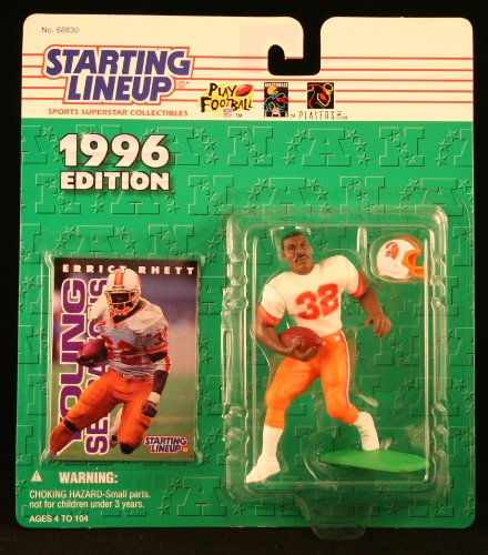 ERRICT RHETT / TAMPA BAY BUCCANEERS 1996 NFL Starting Lineup Action Figure & Exclusive NFL Collector Trading Card (Line Trail Viking)