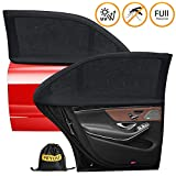 PEYOU 2020 Car Window Shade, Car Sun Shades for Kids, Baby, Women, Pets, Mesh Car Rear Side Window Shade Universal Fit Most(95%) of Cars-Block 99% UV Rays-Travel E-Book-2 PACK (L)