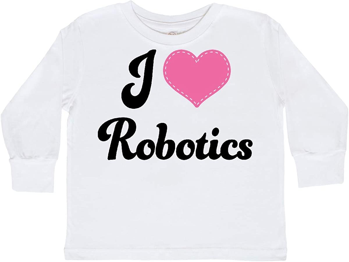 inktastic I Love Robotics Gift Toddler Long Sleeve T-Shirt