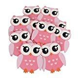 Wooden Owl Animal Cutouts, Pink, 4-1/4-Inch, 10-Piece