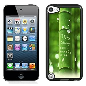 NEW Unique Custom Designed iPod Touch 5 Phone Case With I Love You Green Bamboo_Black Phone Case