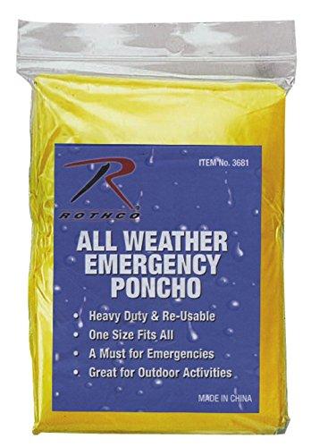 Emergency Ponchos in One Size - Yellow
