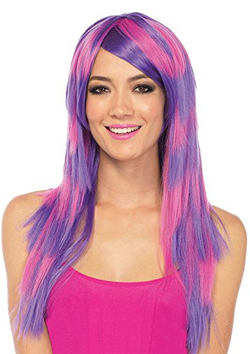 [Long Striped Cheshire Cat Wig Costume Accessory] (Cheshire Cat Costumes For Women)
