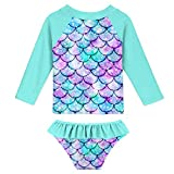 UNIFACO Toddler Girls Rashguard Set Long Sleeve 3D