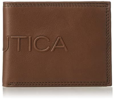 Nautica Men's Rfid Blocking Leather Passcase with Removable Card Carrier