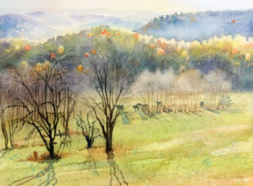 eastward-over-the-hills-giclee-print-of-watercolor-landscape-of-field-with-cows-and-distant-misty-mo