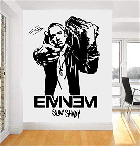 pigeontoeceramics Eminem Rapper Wall Decal Stars Removable Interior Fans Bedroom Kids Nursery Wall Stickers People Art Mural Drop Shopping SYY446