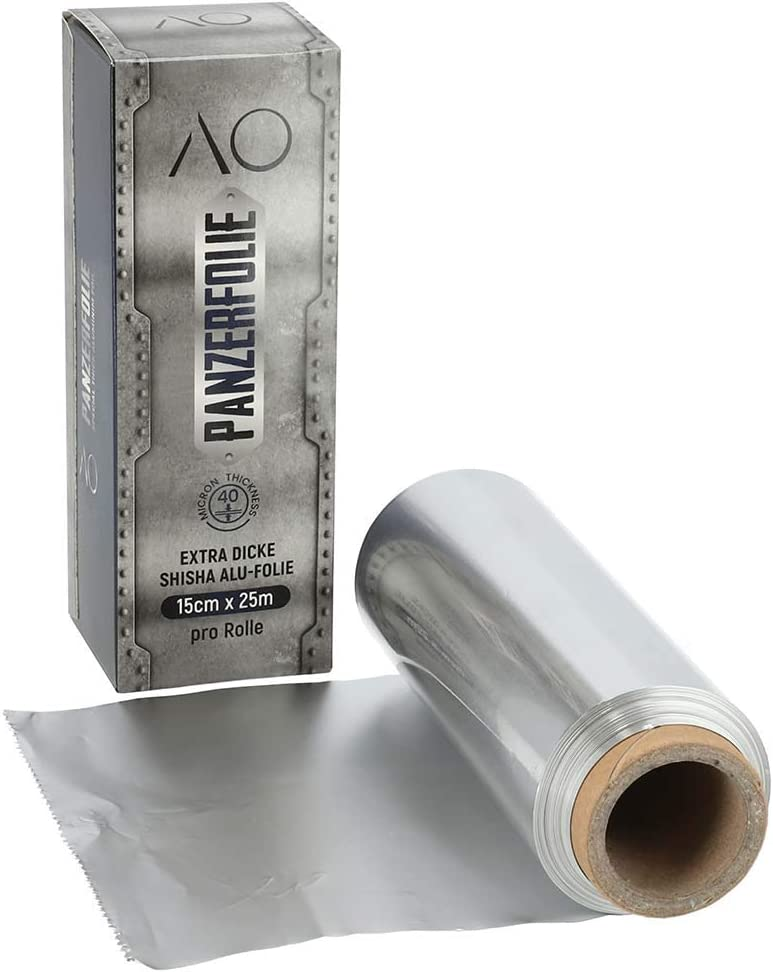 AO® Cachimba Folio Lámina de Aluminio Acorazado | Rollo de 25 m | Super Fuerte una Capa Basta!
