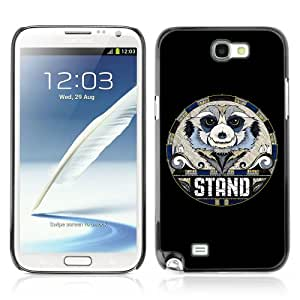 Designer Depo Hard Protection Case for Samsung Galaxy Note 2 N7100 / Cool Sloth