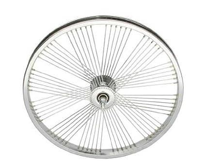 Amazon Com 20 Fan 72 Spoke Front Wheel 14g Chrome Bicycle Wheel
