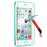 (US) iPod Touch Screen Protector, VL [Tempered Glass] for Apple iPod Touch 6th, 5th Generation, [Scratch Resist] [Bubble-Free] 0.2mm Ultra Thin 9H Hardness High Definition Premium Tempered Glass (1 PACK)