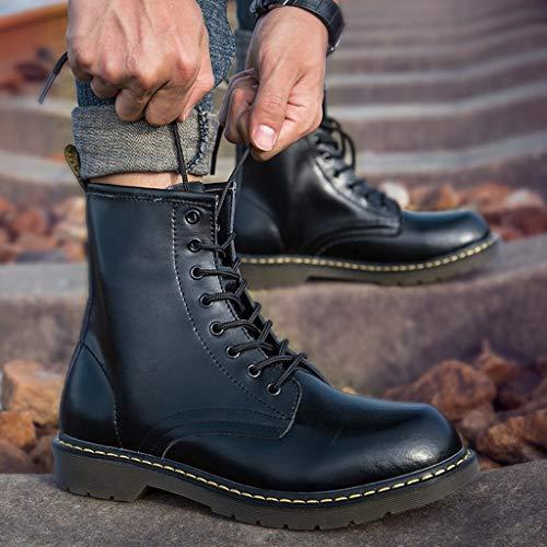 Negro Hombres Altas Nieve Cortas Cuero Moda Martin delgado Inglaterra Hombre Chengxio Botas Casuales De Boots algodón Herramientas Casual Zapatos Opcional w8SxxqZHp