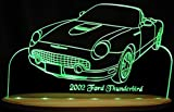 2002 Thunderbird Convertible Tbird Acrylic Lighted Edge Lit LED Sign Awesome 21'' Light Up Plaque 02 VVD3 Full Size USA Original