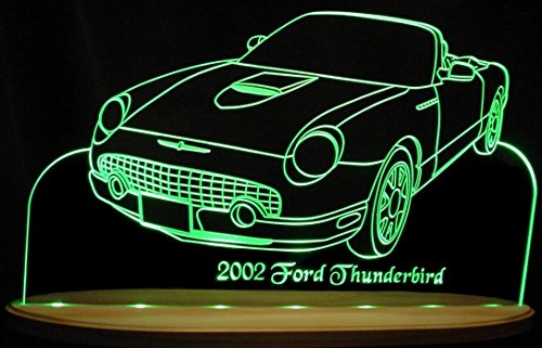 ValleyDesignsND 2002 Thunderbird Convertible Tbird Acrylic Lighted Edge Lit LED Sign Awesome 21