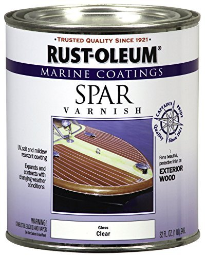 Rust-Oleum 207008 Marine Spar Varnish 1-Quart - 6 Pack