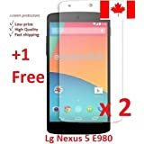 Electroclick x 3 HD Clear film guard screen protector cover shield LCD for LG Nexus 5 E980