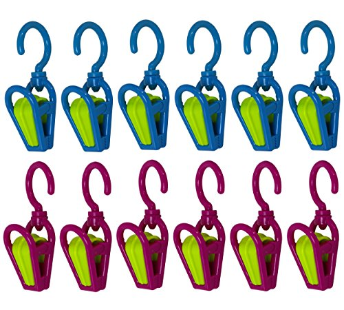 Smart Home Swivel Hanging Clip Hook - Set Of 12