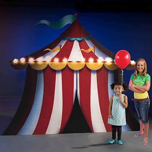 8 ft. Carnival Circus Spectacular Horizontal Tent Standee Standup Photo Booth Prop Background Backdrop Party Decoration Decor Scene Setter Cardboard Cutout]()