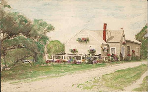 Old Original Art Painting - Painting of Residence - Cape Cod Art Original Vintage Postcard