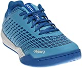 AND1 and 1 Men's Ascender Low-M Basketball Shoe, Alaskan/Strong Blue/White, 11 M US