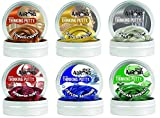 6 Pack Crazy AaronThinking Putty Copper Gold Platinum Ruby Sapphire Emerald, 1.6 oz, Made in The USA, Age 3+