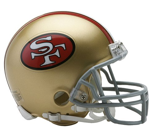 San Francisco 49ers 1964-1995 Throwback Riddell Mini Football Helmet - New in Riddell Box