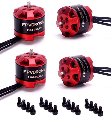 FPVDrone 4pcs 1104 7500KV Brushless Motors for FPV Racing Drone Quadcopter