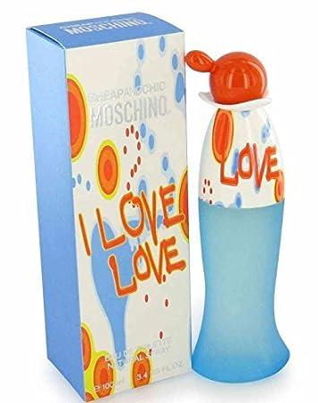 20d4f0c88e Amazon.com : I LOVE I LOVE BY MOSCHINO 3.4 OZ 100 ML EAU DE TOILETTE FOR  WOMAN (Pack of 5) : Beauty