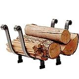 Enclume Basket Log Rack, Hammered Steel