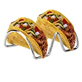 CHICTRY 2Pcs Stainless Steel Taco Holder Rustproof Smooth Edges Taco Shell Holder Stand 2/3 Slots Holders Hold Hard or Soft Shell Tacos 2 Slots Multi