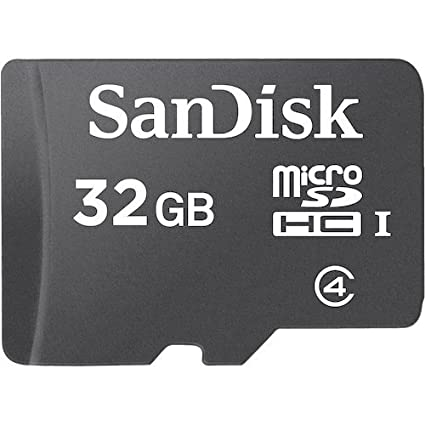 SANDISK 32 GB Memory Card Black