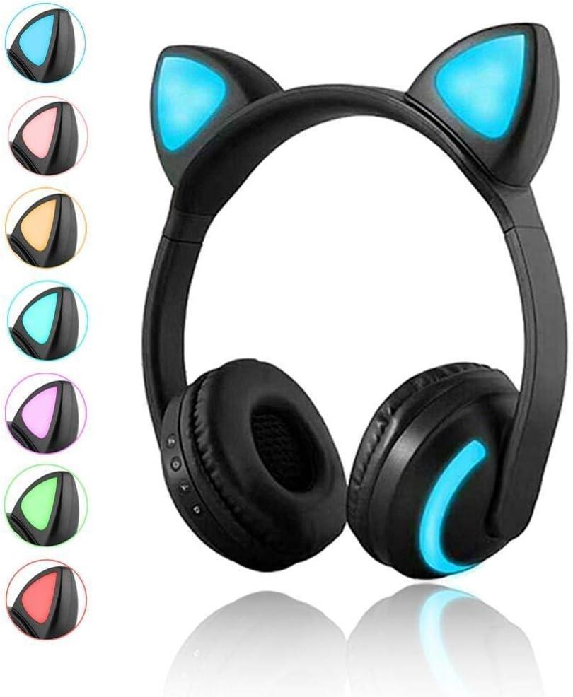 LYEJLYEJ Auriculares Bluetooth Gato/Conejo/Ciervo/Devil 7 Colores ...