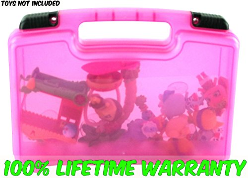 Life Made Better Toy Storage Organizer - Compatible With Shopkins TM Wild Style Ambear Bow Shoppet and Honey Pots Exclusive - Durable Carrying Case - Pink