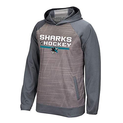 adidas San Jose Sharks Reebok Center Ice TNT Authentic Locker Pullover Hoodie Men's
