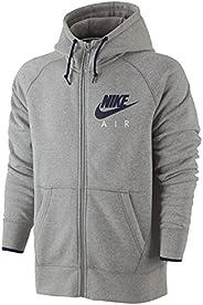 Nike Air Fleece Hooded Top Full Zip Hoodie Heritage Mens Hoodie Grey New 727387